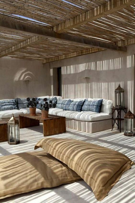 decorar la terraza - muebles