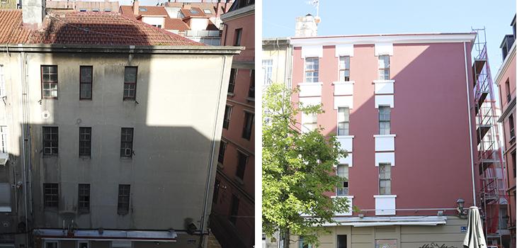Rehabilitación en fachada